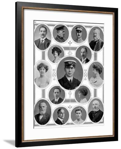 On Board the Titanic: Notable Passengers--Framed Art Print