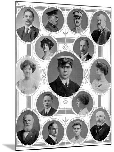 On Board the Titanic: Notable Passengers--Mounted Photographic Print