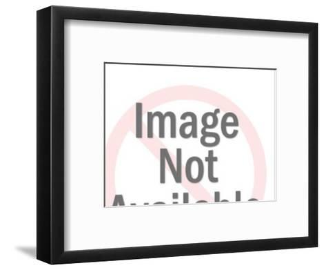 Dark Haired Man With Head in Hands-Pop Ink - CSA Images-Framed Art Print