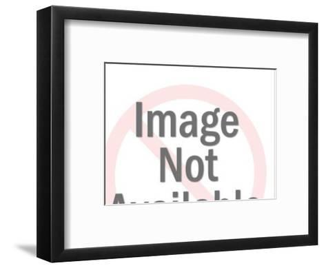 Eldery Man on Telephone-Pop Ink - CSA Images-Framed Art Print
