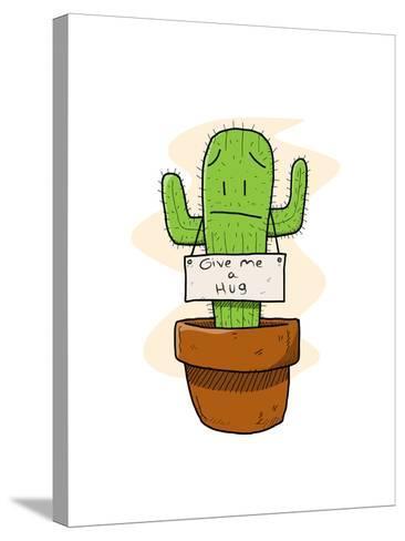 Cactus-lemonadeserenade-Stretched Canvas Print