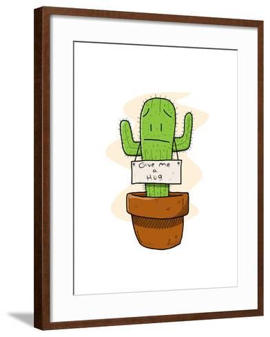 Cactus-lemonadeserenade-Framed Art Print