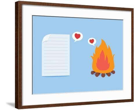Paper Have Foolish Love with Fire-Solar22-Framed Art Print