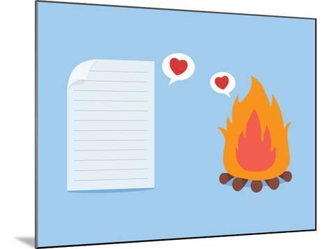 Paper Have Foolish Love with Fire-Solar22-Mounted Art Print