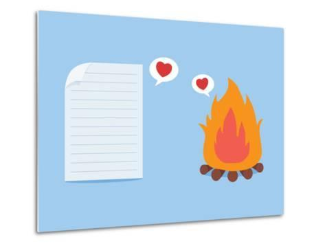 Paper Have Foolish Love with Fire-Solar22-Metal Print