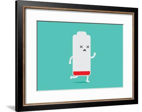 Battery Low Energy to Running-Solar22-Framed Art Print