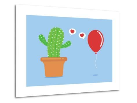 Cactus Have Foolish Love with Balloon-Solar22-Metal Print