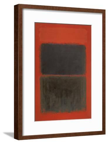Light Red Over Black-Mark Rothko-Framed Art Print