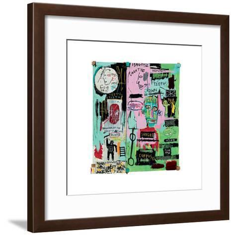 In Italian, 1983-Jean-Michel Basquiat-Framed Art Print