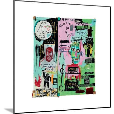 In Italian, 1983-Jean-Michel Basquiat-Mounted Giclee Print