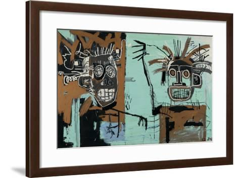 Untitled (Two Heads on Gold) 1982-Jean-Michel Basquiat-Framed Art Print
