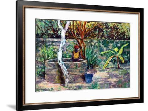 The Garden Well, 2017-Tilly Willis-Framed Art Print