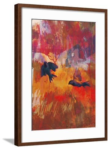 Sparrows, 2016-David McConochie-Framed Art Print