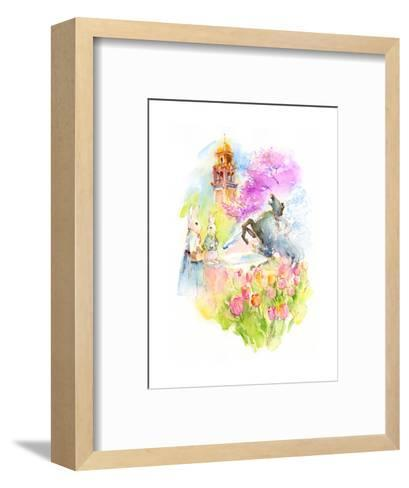Plaza at Easter, 2016-John Keeling-Framed Art Print