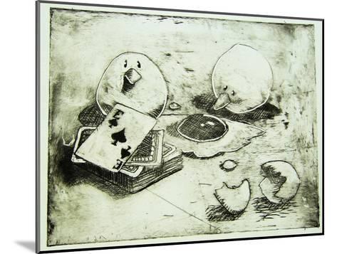 Card Birds-Thomas MacGregor-Mounted Giclee Print