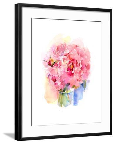 Peony Bouquet, 2016-John Keeling-Framed Art Print