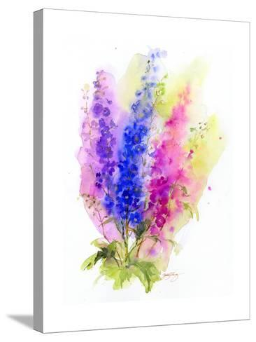 Delphinium, 2016-John Keeling-Stretched Canvas Print