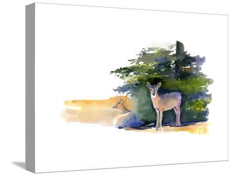 Two Deer, 2014-John Keeling-Stretched Canvas Print