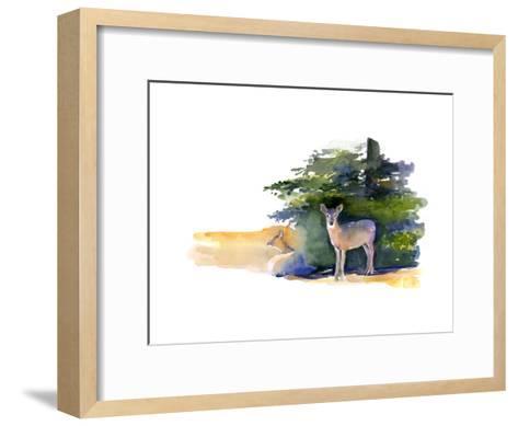 Two Deer, 2014-John Keeling-Framed Art Print