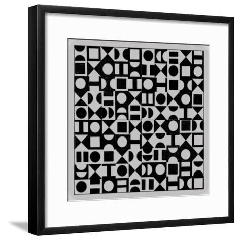 Basic Derivative, 2017, Simulated Woodblock-Peter McClure-Framed Art Print