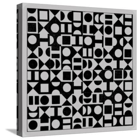 Basic Derivative, 2017, Simulated Woodblock-Peter McClure-Stretched Canvas Print