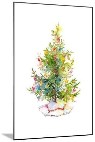 Christmas Tree with Skirt, 2016-John Keeling-Mounted Giclee Print