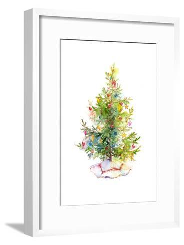 Christmas Tree with Skirt, 2016-John Keeling-Framed Art Print