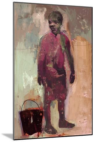 Boy and Water Bucket 2016-David McConochie-Mounted Giclee Print