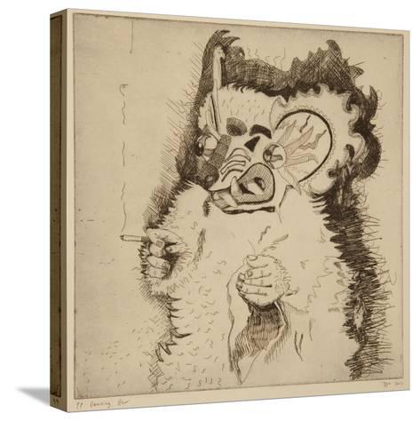 Dancing Bear, Printers Proof Prior to Aquatint-Thomas MacGregor-Stretched Canvas Print