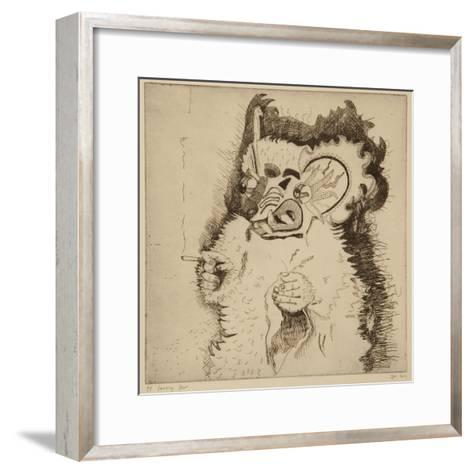 Dancing Bear, Printers Proof Prior to Aquatint-Thomas MacGregor-Framed Art Print