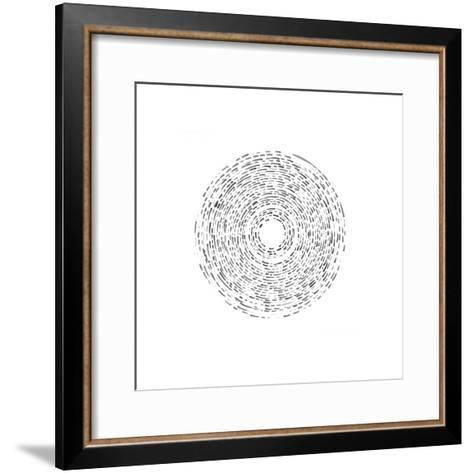 Fractured (Grey)-Kirstie Macleod-Framed Art Print