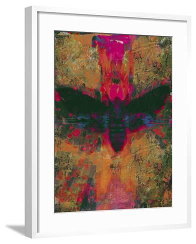 Death Moth Collage, 2016-David McConochie-Framed Art Print