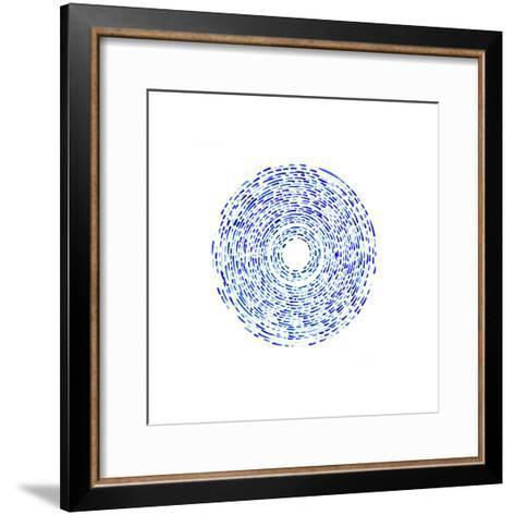 Fractured (Blue)-Kirstie Macleod-Framed Art Print