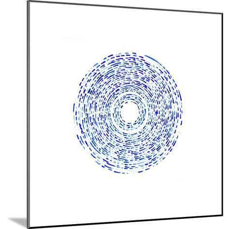 Fractured (Blue)-Kirstie Macleod-Mounted Giclee Print