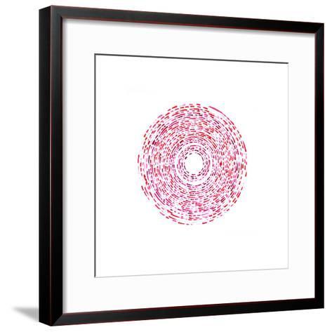 Fractured (Red)-Kirstie Macleod-Framed Art Print