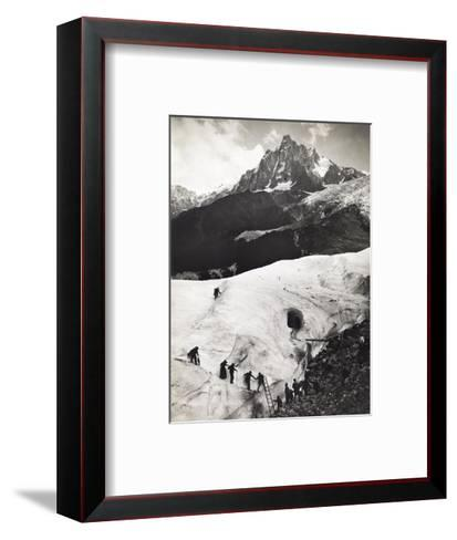 Glacier Des Bossons, Chamonix Valley, France. Tourists Climb Glacier-S. G. Wehrli-Framed Art Print