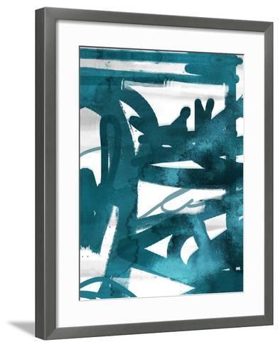 Blue Cynthia 1-Cynthia Alvarez-Framed Art Print