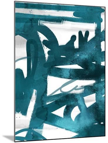 Blue Cynthia 1-Cynthia Alvarez-Mounted Art Print