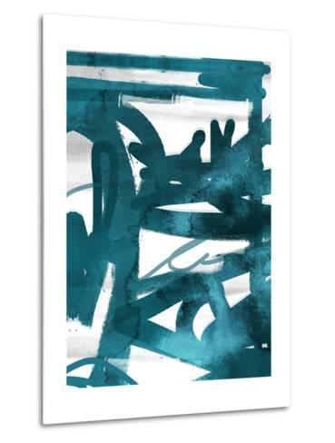 Blue Cynthia 1-Cynthia Alvarez-Metal Print