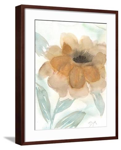 Neutral Peony II-Beverly Dyer-Framed Art Print