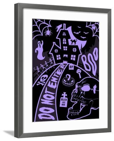 Haunted Fun House-Jace Grey-Framed Art Print