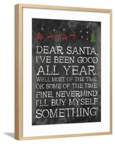 Dear Santa Nevermind-Jace Grey-Framed Art Print
