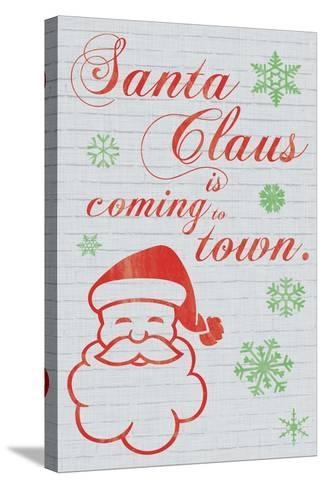 Santa Clause is Coming to Town-Lauren Gibbons-Stretched Canvas Print