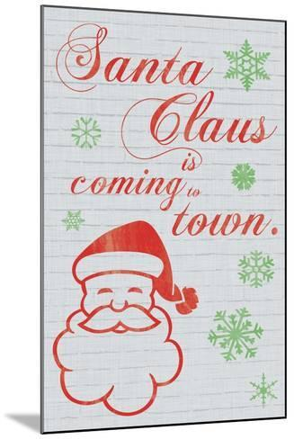 Santa Clause is Coming to Town-Lauren Gibbons-Mounted Art Print