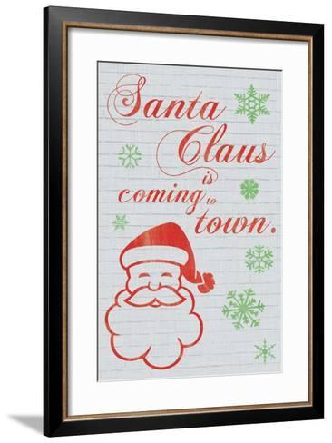 Santa Clause is Coming to Town-Lauren Gibbons-Framed Art Print