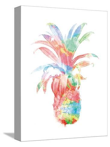 Colorful Pineapple Clean-Jace Grey-Stretched Canvas Print