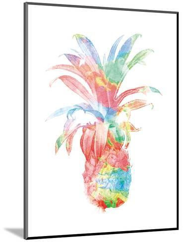 Colorful Pineapple Clean-Jace Grey-Mounted Art Print