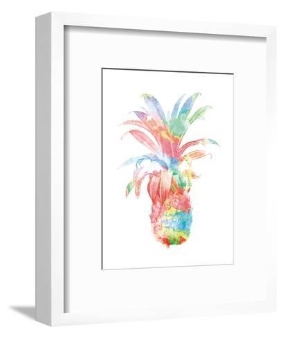 Colorful Pineapple Clean-Jace Grey-Framed Art Print