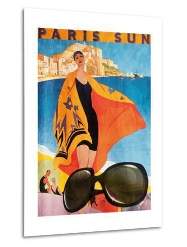 Paris Sun-Jace Grey-Metal Print