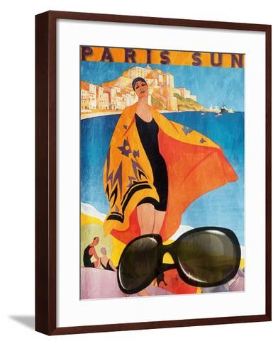 Paris Sun-Jace Grey-Framed Art Print